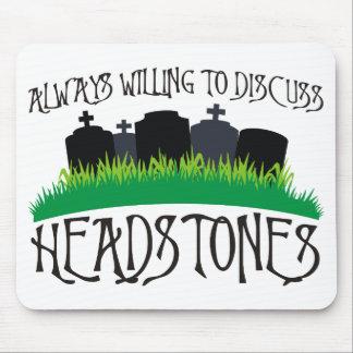 Siempre queriendo discutir las lápidas mortuorias tapete de raton