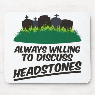 Siempre queriendo discutir las lápidas mortuorias tapetes de ratones