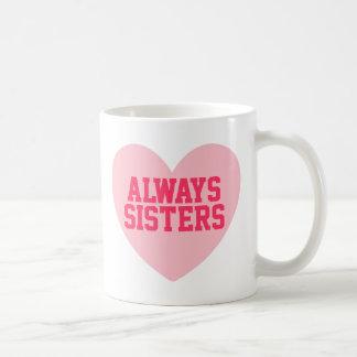 Siempre taza personalizada corazón rosado de las h