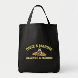 Siempre un infante de marina bolsa tela para la compra