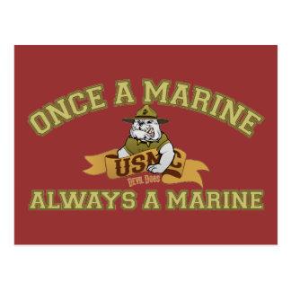 Siempre un infante de marina tarjeta postal