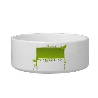 Siempre verde tazones para comida para gato