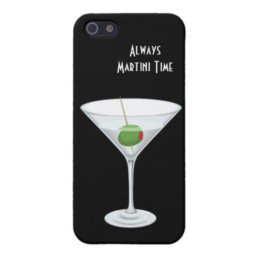 SIEMPRE vidrio de Martini de la hora feliz del TIE iPhone 5 Carcasa