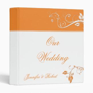 Siempre y para siempre carpeta anaranjada del boda
