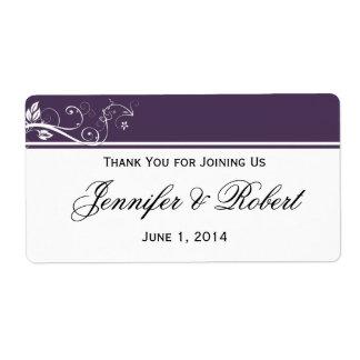 Siempre y para siempre etiqueta violeta de la etiquetas de envío