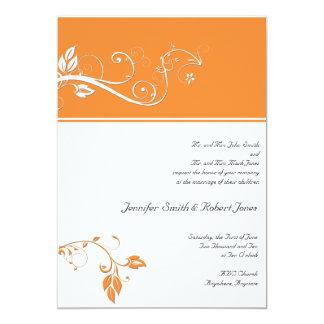 Siempre y para siempre naranja invitación 12,7 x 17,8 cm