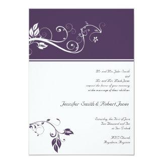 Siempre y para siempre violeta invitación 12,7 x 17,8 cm
