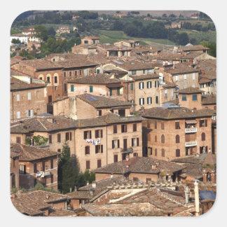 Siena admitido fotografía, Italia. Uno puede ver Pegatina Cuadrada