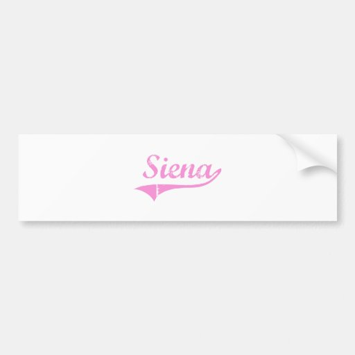 Siena Classic Style Name Bumper Sticker