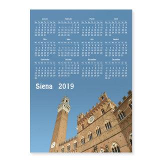 Siena, Italy 2019 calendar