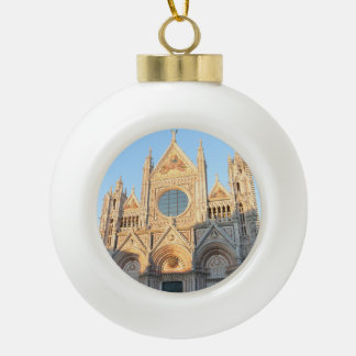 Siena Italy Ceramic Ball Christmas Ornament