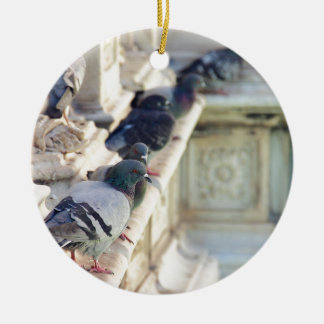 SIENA, ITALY Piazza del Campo Double-Sided Ceramic Round Christmas Ornament