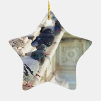 SIENA, ITALY Piazza del Campo Double-Sided Star Ceramic Christmas Ornament