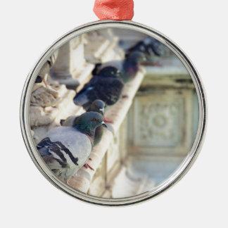 SIENA, ITALY Piazza del Campo Round Metal Christmas Ornament