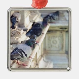 SIENA, ITALY Piazza del Campo Square Metal Christmas Ornament
