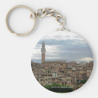 Siena, Italy, tower of City Hall at left Keychain