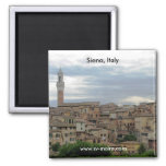 Siena, Italy, tower of City Hall at left Magnets