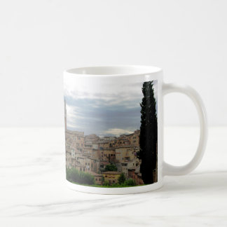 Siena, Italy, tower of City Hall at left Mug