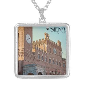 Siena - mañana de Palazzo Pubblico Colgante Cuadrado