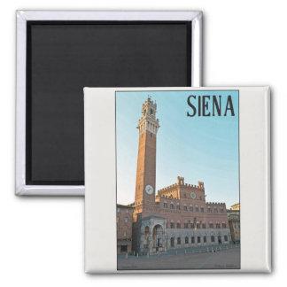 Siena - mañana de Palazzo Pubblico Imán De Nevera