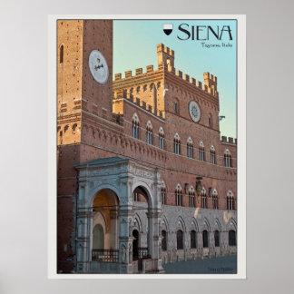 Siena - mañana de Palazzo Pubblico Posters