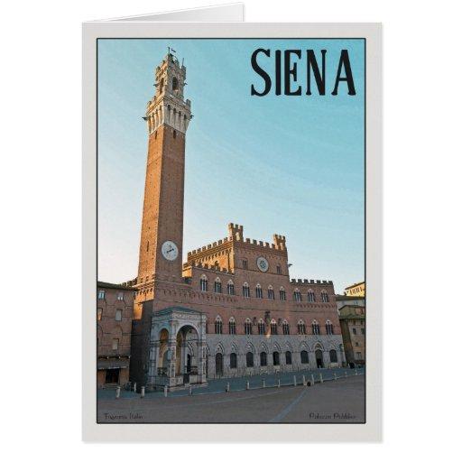 Siena - mañana de Palazzo Pubblico Felicitaciones