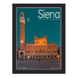Siena - noche de Palazzo Pubblico Postal