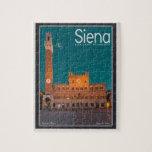 Siena - noche de Palazzo Pubblico Puzzle Con Fotos