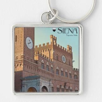 Siena - Palazzo Pubblico Morning Keychain