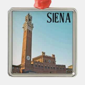 Siena - Palazzo Pubblico Morning Christmas Tree Ornaments