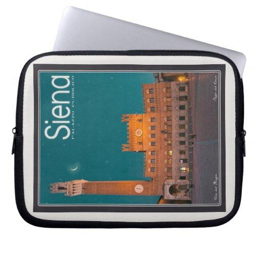 Siena - Palazzo Pubblico Night Laptop Computer Sleeves