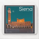 Siena - Palazzo Pubblico Night Mouse Pads