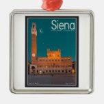 Siena - Palazzo Pubblico Night Ornament