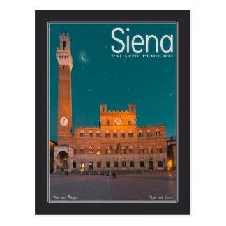 Siena - Palazzo Pubblico Night Postcard