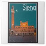 Siena - Palazzo Pubblico Night Tile
