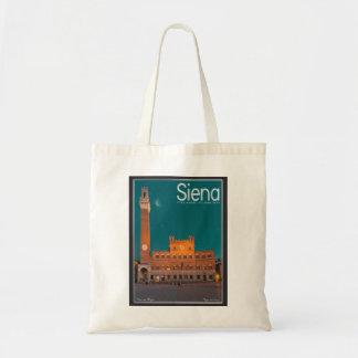 Siena - Palazzo Pubblico Night Tote Bag