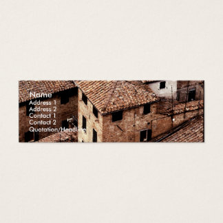 Siena Rooftops | Watercolor Mini Business Card