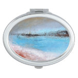 Siena Turquoise Abstract Compact Mirror