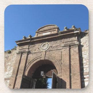 Siena, Tuscany - Porta Camollia Beverage Coaster