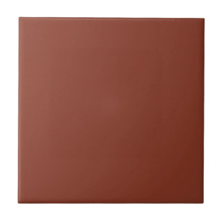 Siena Yellowish-Brown Background. Elegant Color Small Square Tile