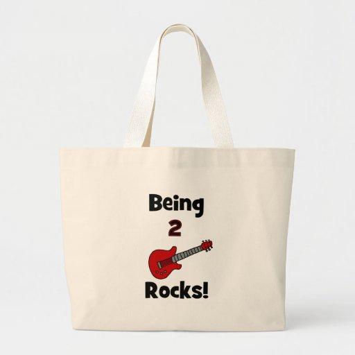¡Siendo 2 rocas!  con la guitarra Bolsas De Mano