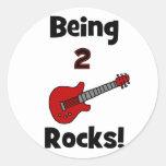 ¡Siendo 2 rocas!  con la guitarra Pegatinas