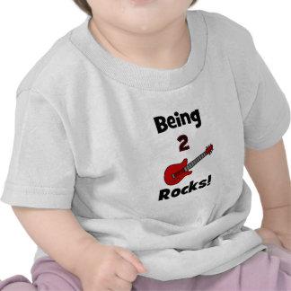 ¡Siendo 2 rocas!  con la guitarra Camiseta