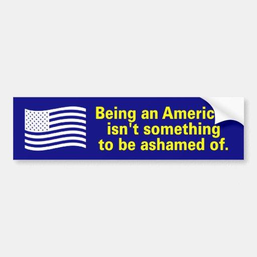 siendo americano pegatina de parachoque