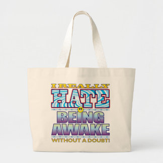 Siendo cara despierta del odio bolsa tela grande