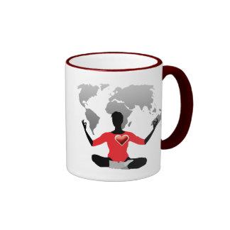 Siendo centrado en la taza II del mundo