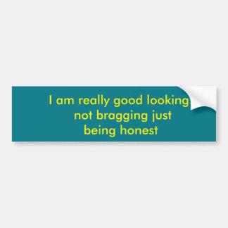 siendo honesto pegatina para auto