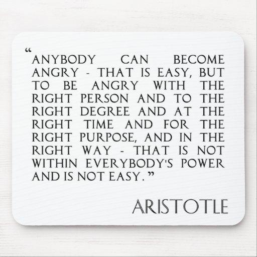 Siendo mousepad enojado de Aristóteles Alfombrillas De Ratones