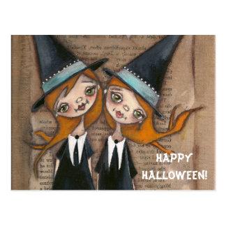 Siendo nosotros mismos - postal de Halloween
