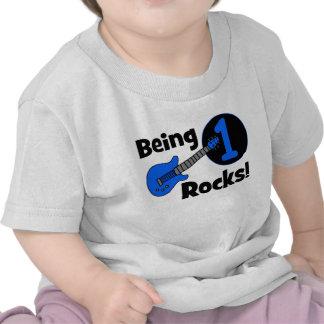 ¡Siendo rocas 1 El 1r cumpleaños del bebé persona Camiseta